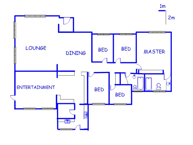 Floor plan of the property in Westonaria