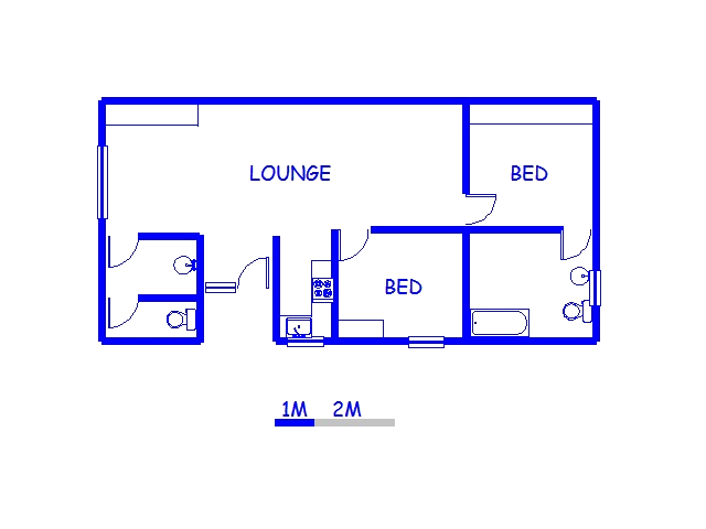 Floor plan of the property in Jeffrey's Bay
