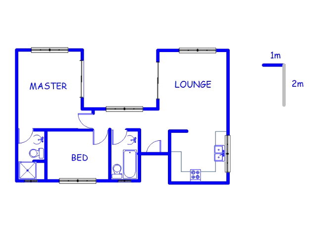Floor plan of the property in Honeydew Ridge