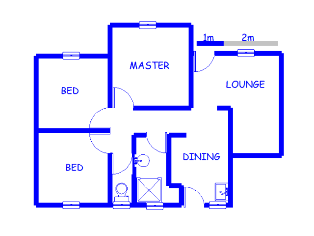 Floor plan of the property in Meyerton