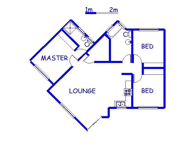 Floor plan of the property in Bergville