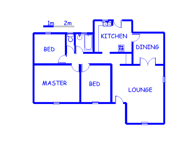 Floor plan of the property in Homestead