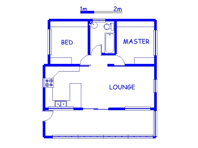 Floor plan of the property in Southbroom
