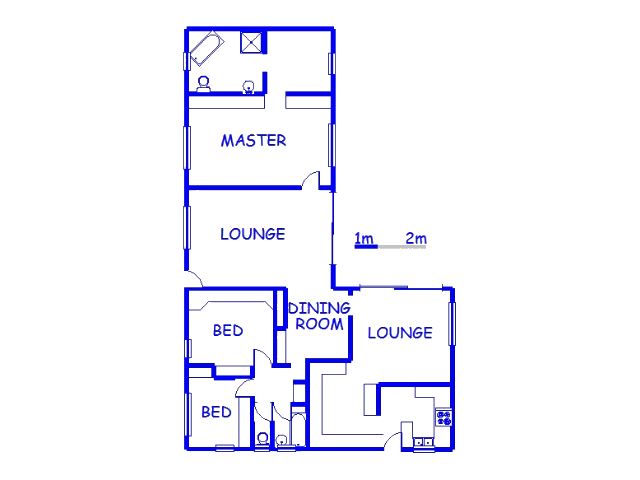 Floor plan of the property in Greenwood Park