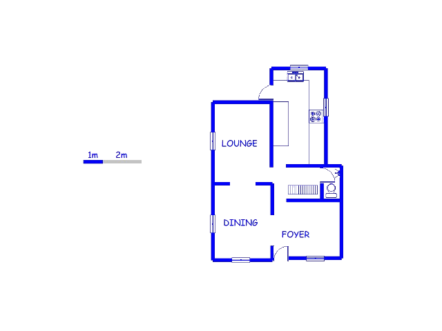 Floor plan of the property in Eldorado Park A/H