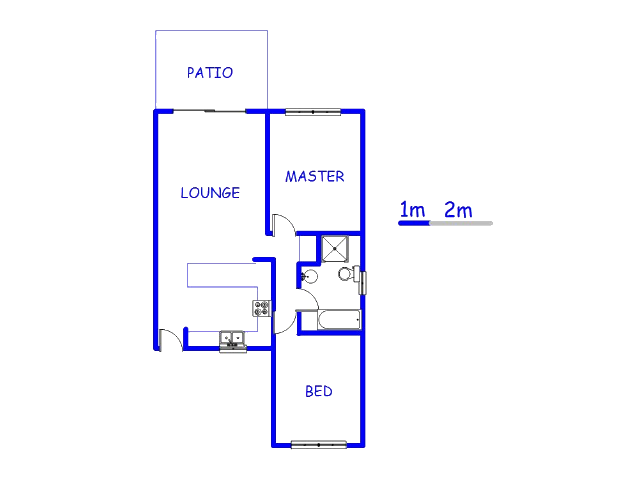 Floor plan of the property in Hartbeespoort