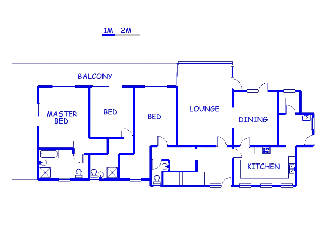 Floor plan of the property in Walmer