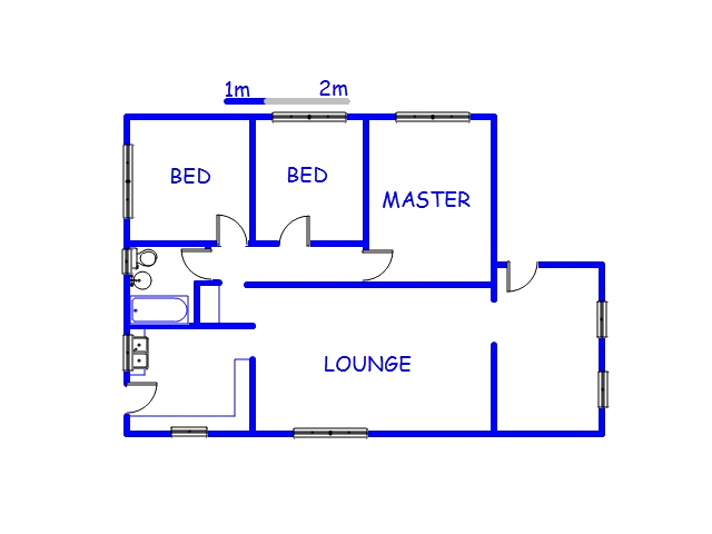 Floor plan of the property in Malvern - DBN