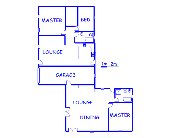 Floor plan of the property in Helderstrome AH
