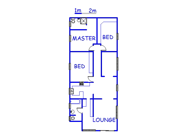 Floor plan of the property in Bothas Hill