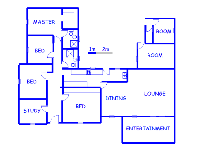 Floor plan of the property in Harmelia