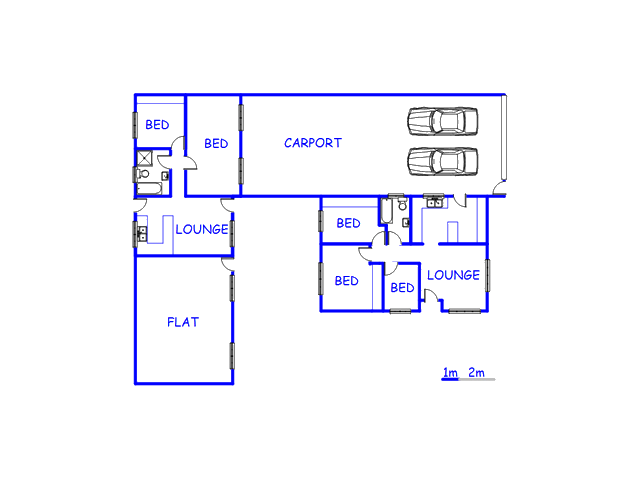 Floor plan of the property in Mandalay