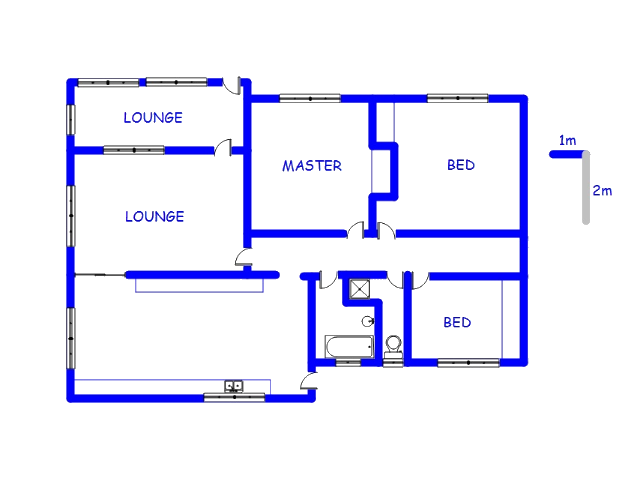 Floor plan of the property in Hermanstad