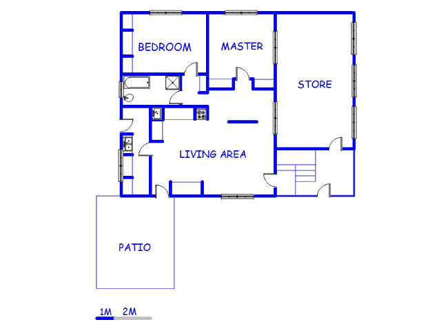 Floor plan of the property in Magaliesburg