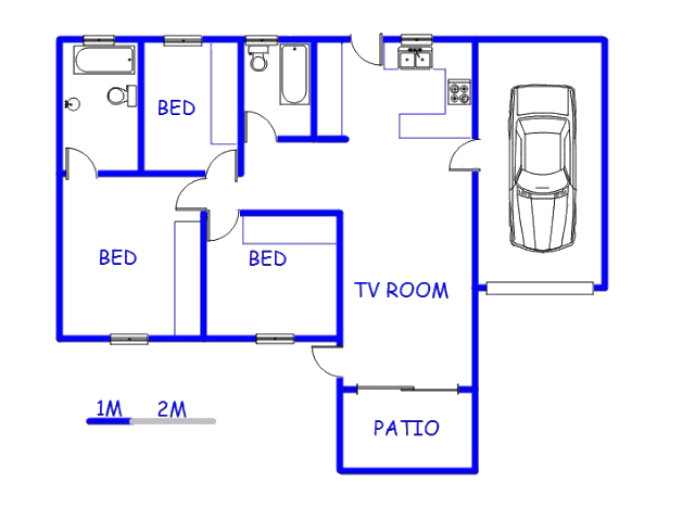 Floor plan of the property in Kyalami Hills