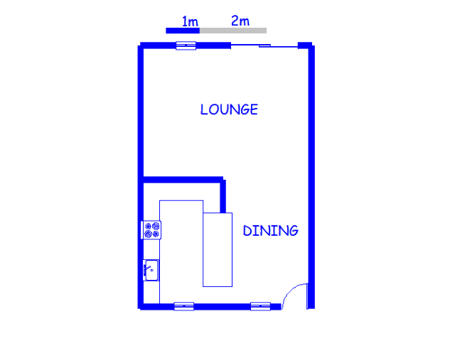 Floor plan of the property in Naval Hill