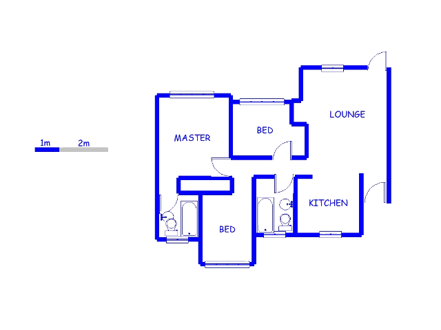 Floor plan of the property in Boundary Park