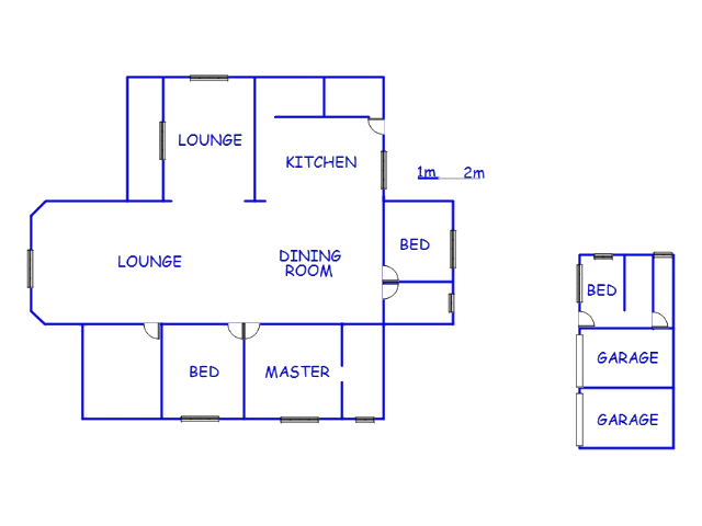 Floor plan of the property in Umkomaas
