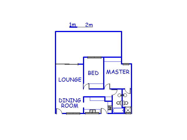 Floor plan of the property in La Lucia