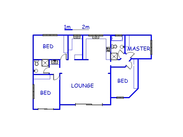 Floor plan of the property in Palm Beach