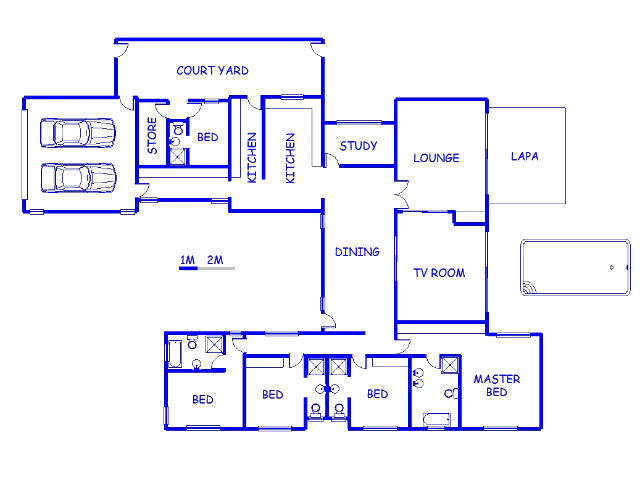Floor plan of the property in Kathu