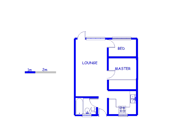 Floor plan of the property in Edenvale