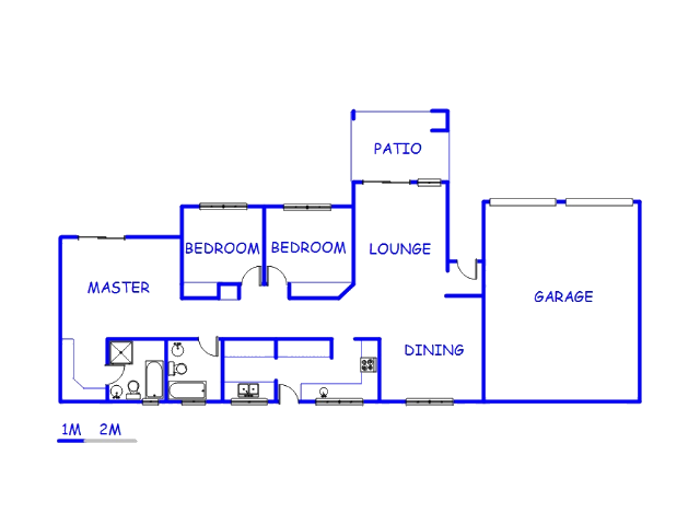 Floor plan of the property in Boskruin