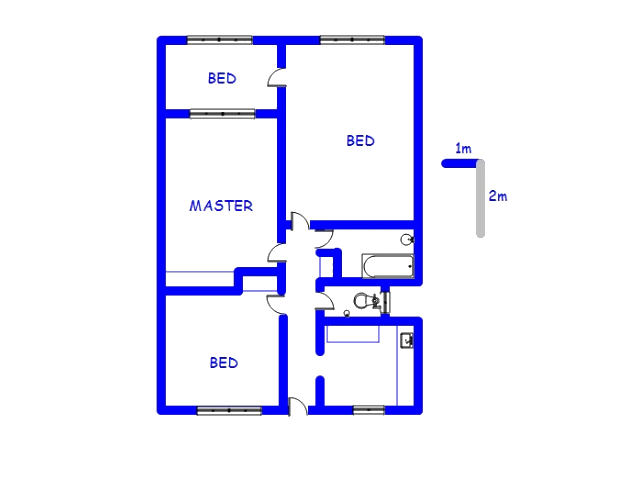 Floor plan of the property in Sunnyside