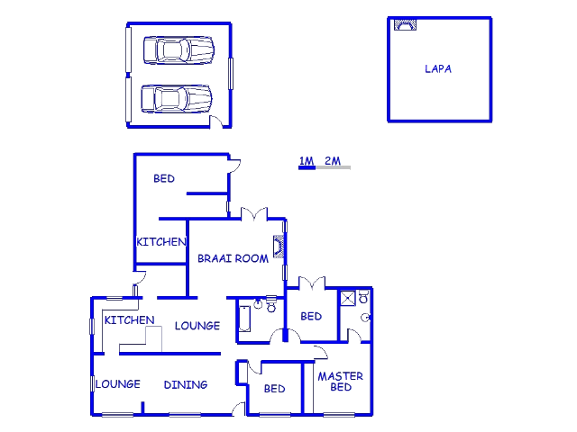 Floor plan of the property in Kabega