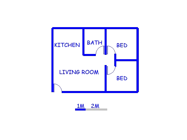 Floor plan of the property in Universitas