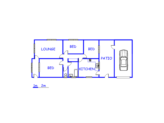 Floor plan of the property in Churchill Estate