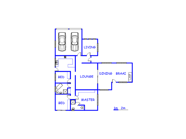 Floor plan of the property in Grabouw