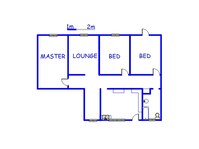 Floor plan of the property in Austerville