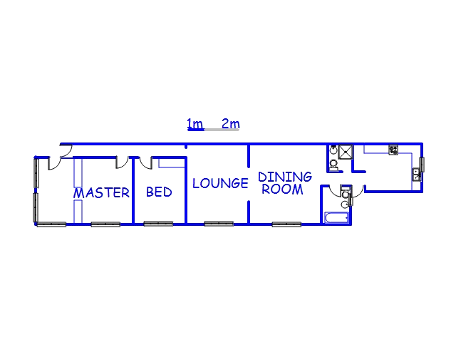 Floor plan of the property in Glenwood - DBN