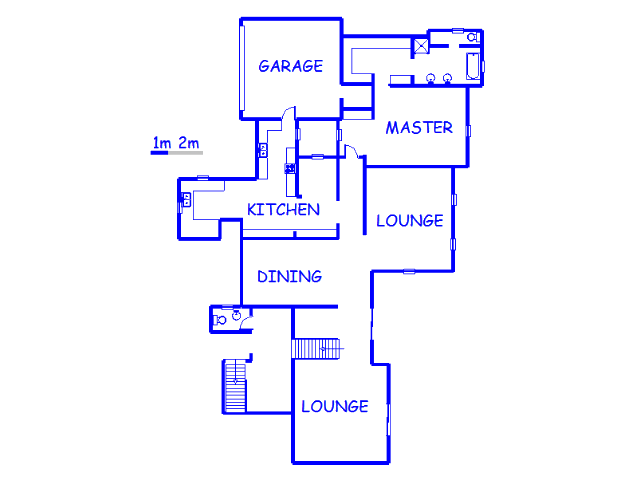 Floor plan of the property in Bedford Park