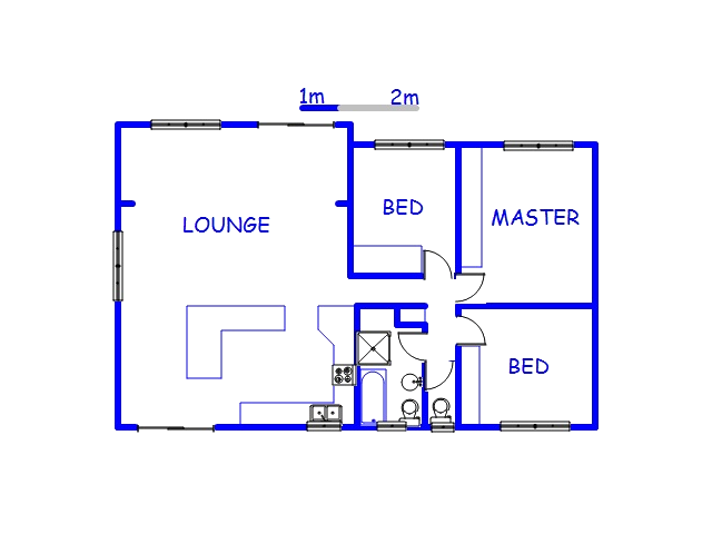 Floor plan of the property in Warner Beach