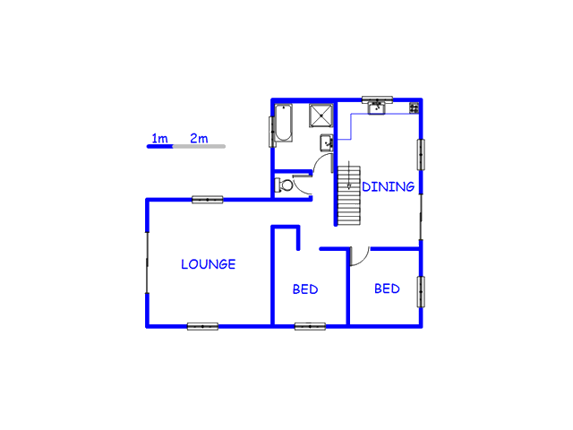 Floor plan of the property in Hopefield