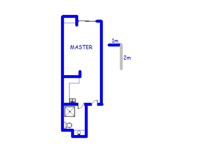 Floor plan of the property in Potchefstroom