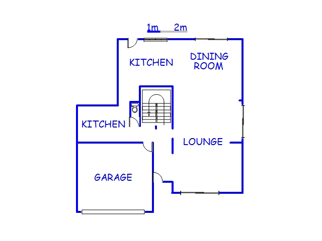 Floor plan of the property in Point