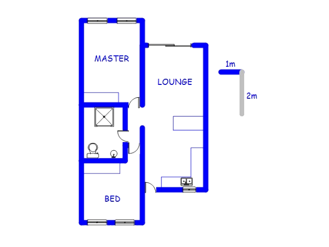Floor plan of the property in Montana Tuine