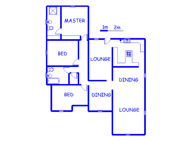 Floor plan of the property in Arcon Park