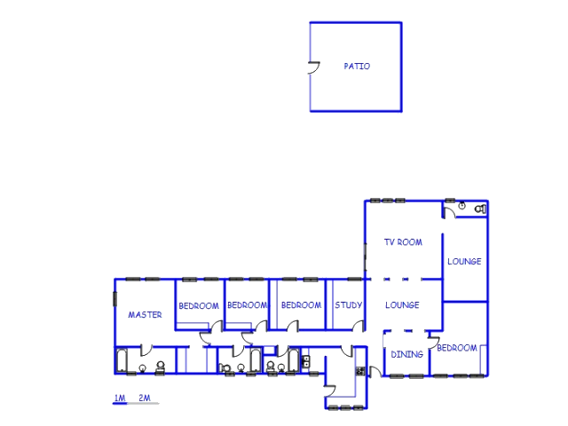 Floor plan of the property in Breaunanda