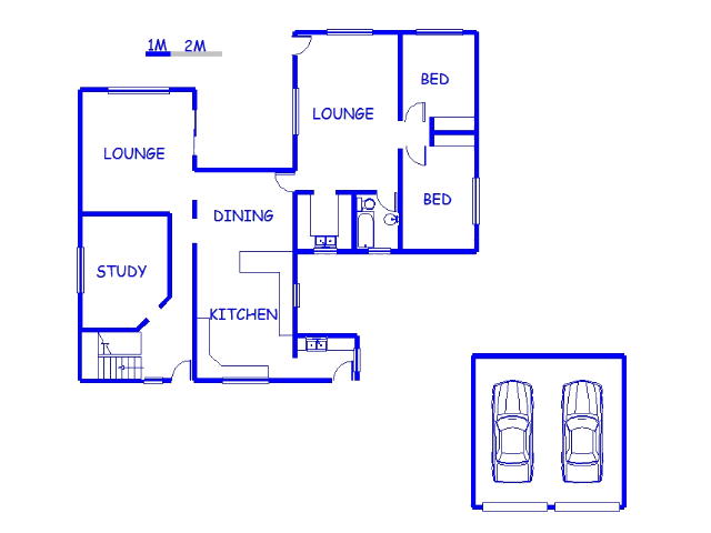 Floor plan of the property in Groot Brakrivier