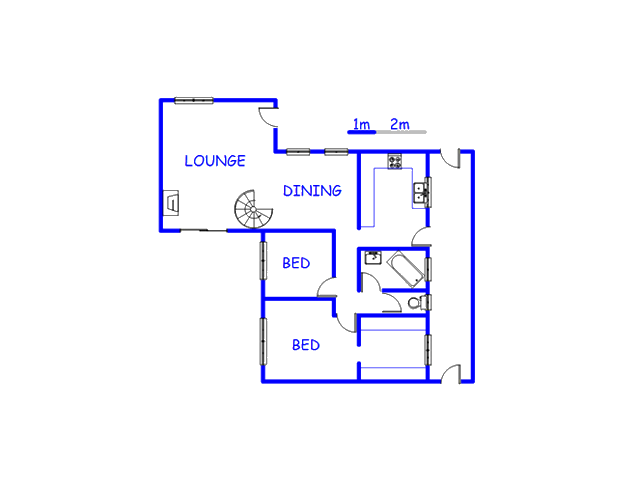 Floor plan of the property in Strandfontein