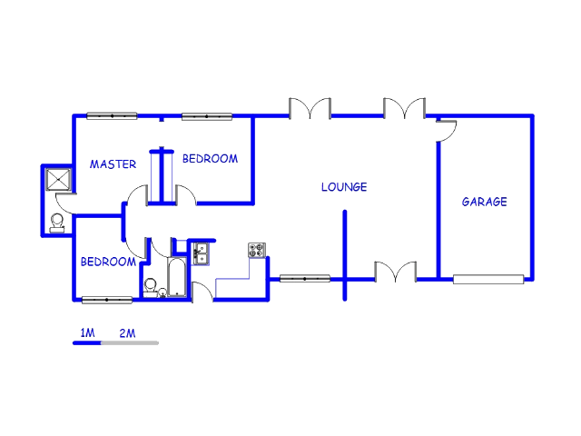 Floor plan of the property in Bloubosrand