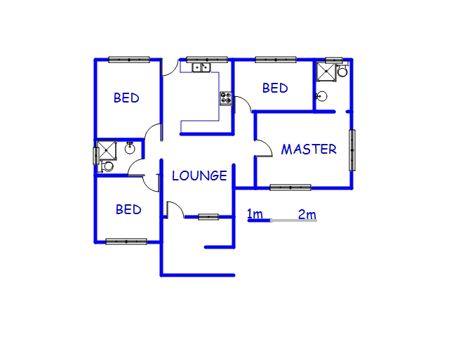 Floor plan of the property in Stanger