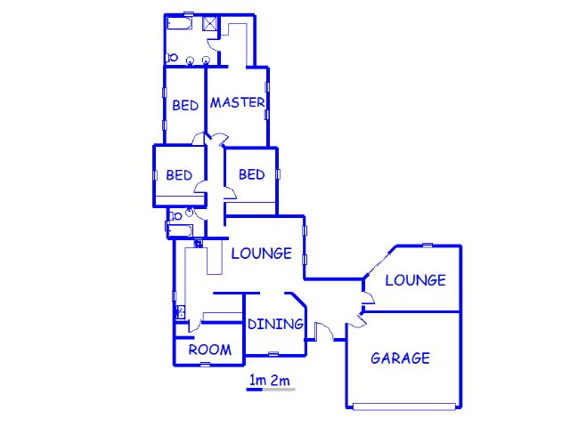 Floor plan of the property in Marais Steyn Park