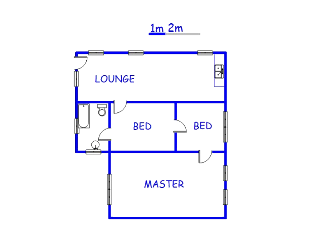 Floor plan of the property in Hawston