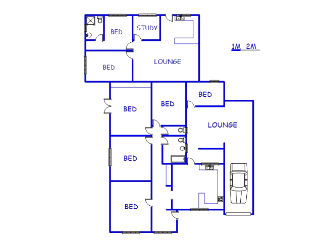 Floor plan of the property in Parow Central