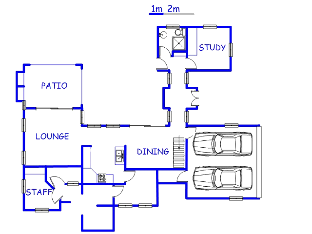 Floor plan of the property in Midstream Estate